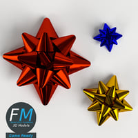 3D star ribbon bows gr model