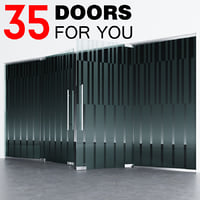 Door _ partitions with sandblasted