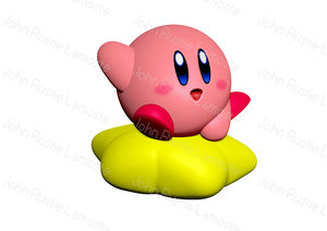 3D kirby character model