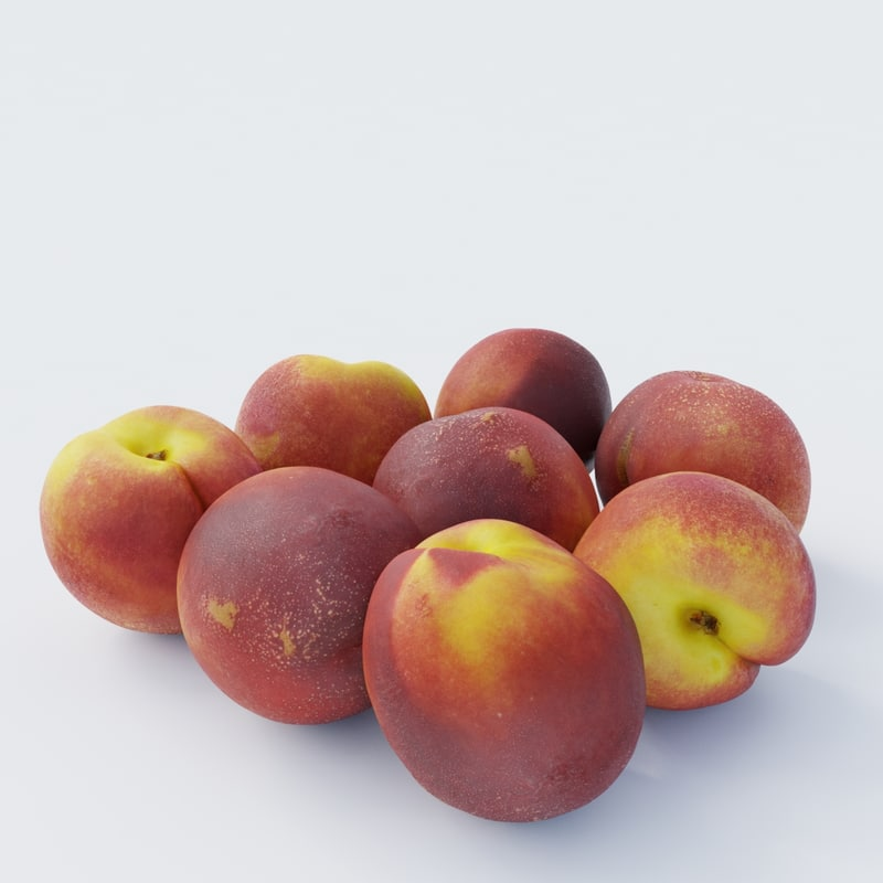 photoscanned nectarines model