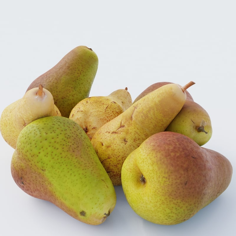 3D photoscanned pears pack 1