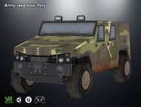 optimized ar army jeep 3D model
