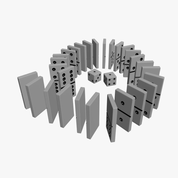 dominoes dice 3d model