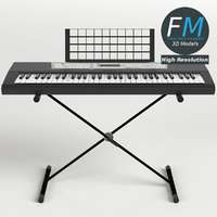3D model electronic keyboard stand hr