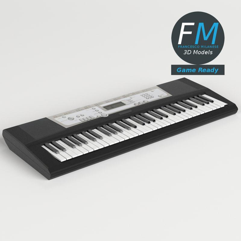 3D electronic piano keyboard gr