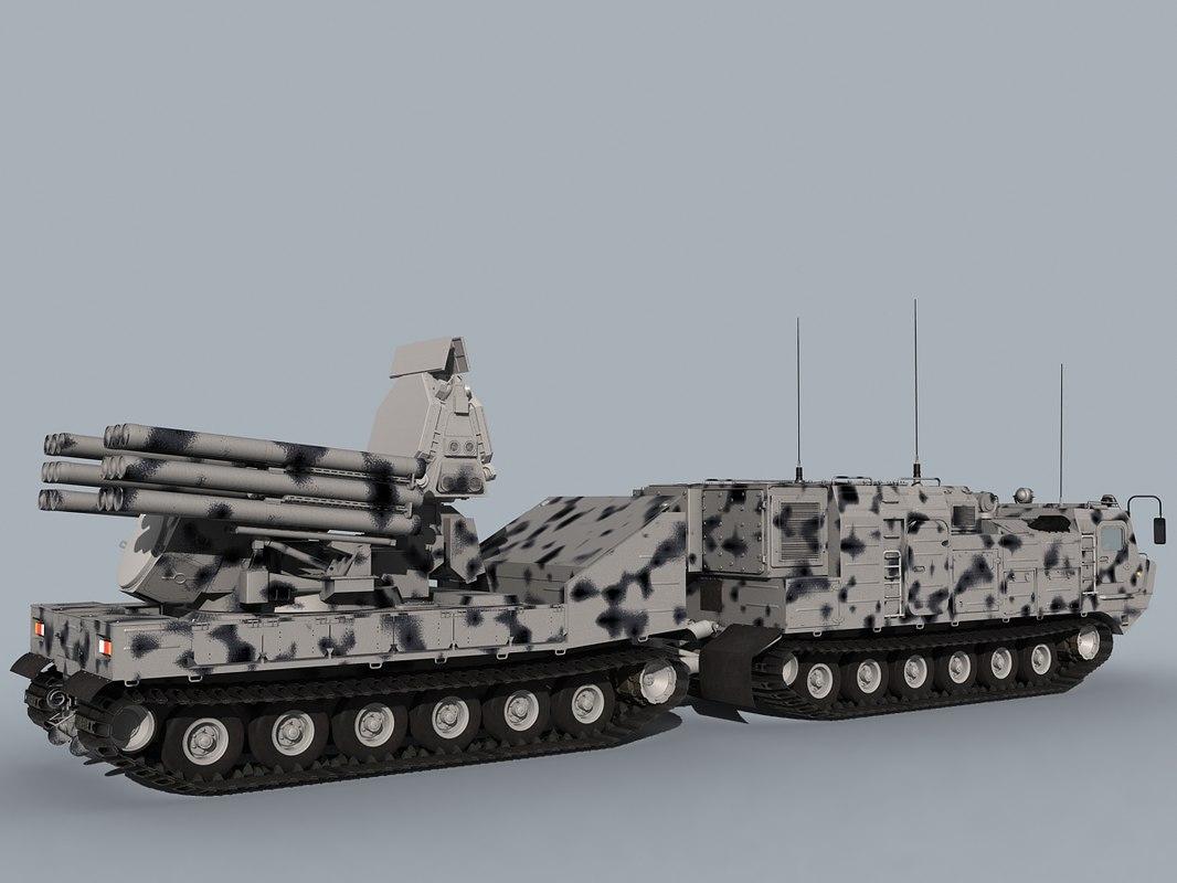 3D pantsir-sa sa-22 model