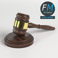 3D model gavel law hammer gr