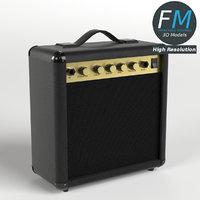 guitar amplifier hr 3d max