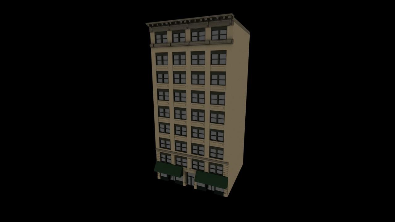 3D 12th west 18th street model