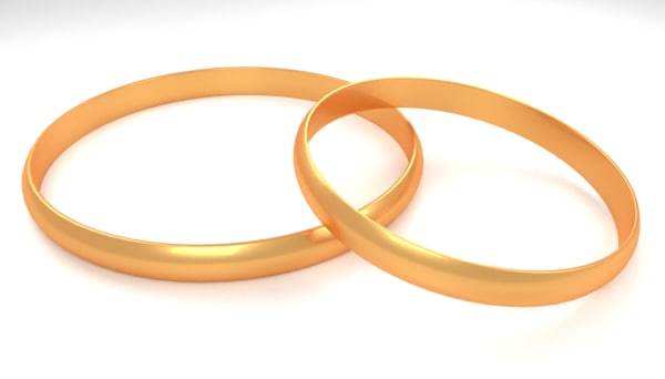 3D model gold ring