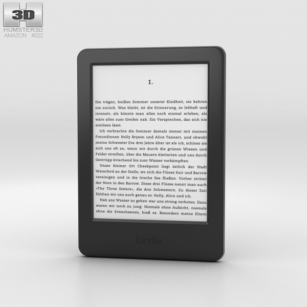 3D model amazon kindle e-reader