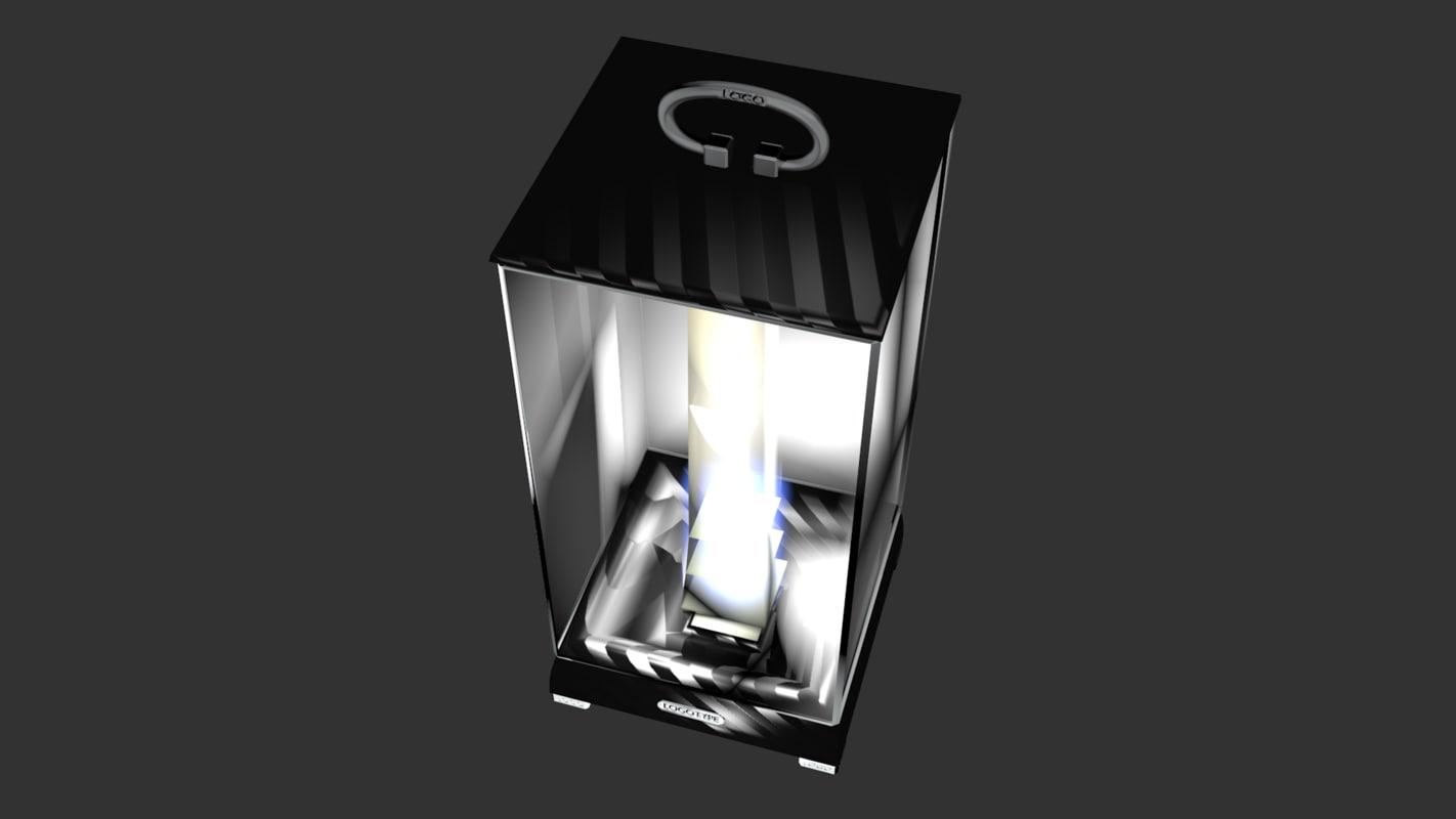 3D portable designer lamp