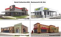 3D exterior restaurant site model