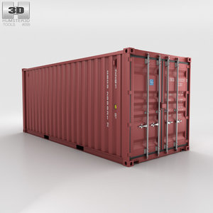 3D shipping container 20ft