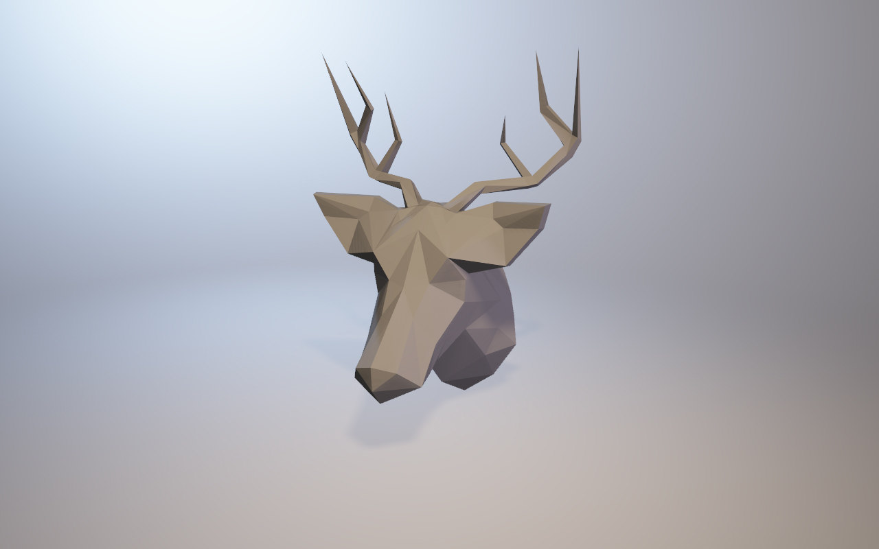 3D low-poly deer model