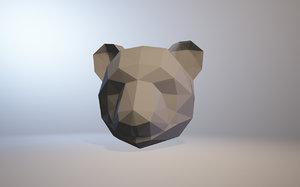 low-poly panda 3D