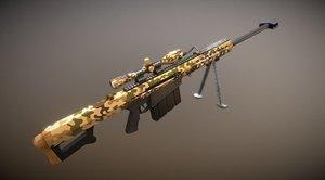 sniper barrett m82 3D