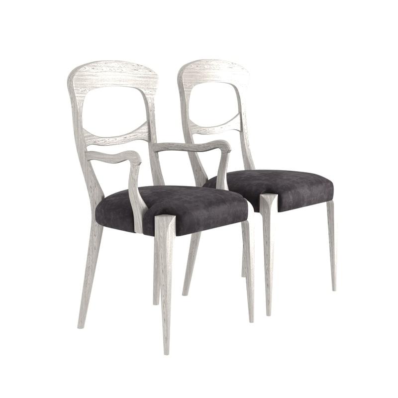 chair komaki classic living room 3D