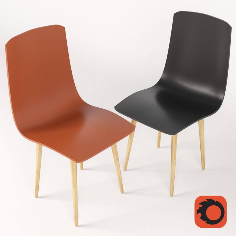 chair wood plastic 3D model