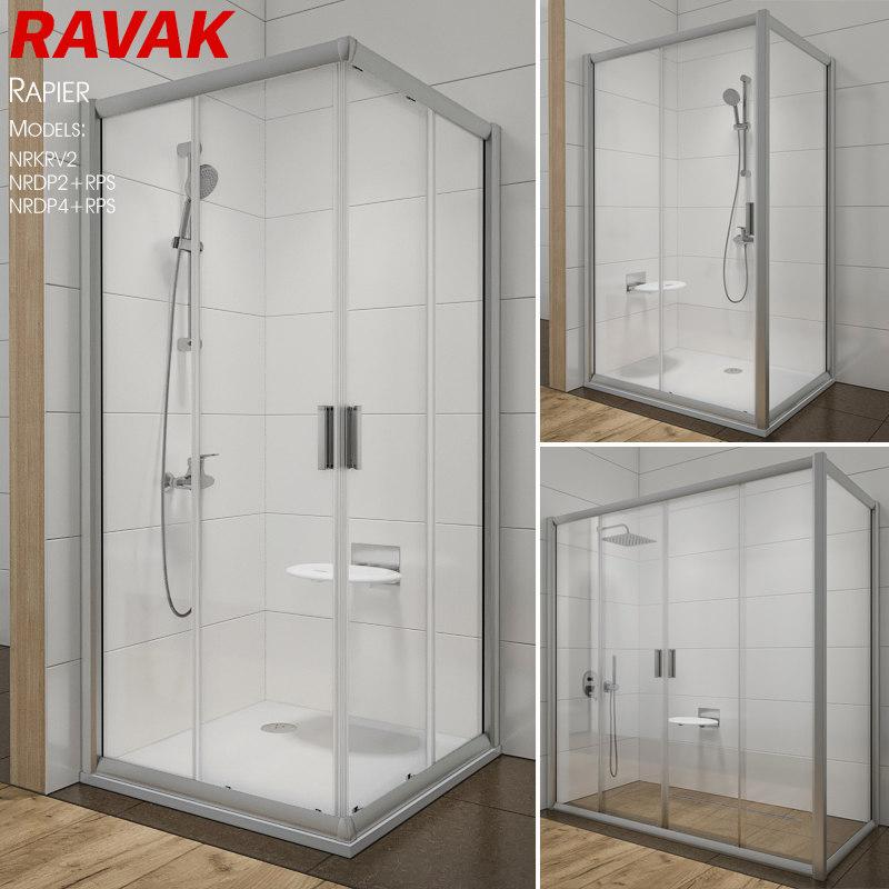 3D shower ravak rapier
