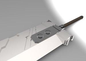 cloud sword 3D model