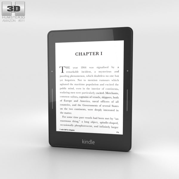 3D amazon kindle voyage model