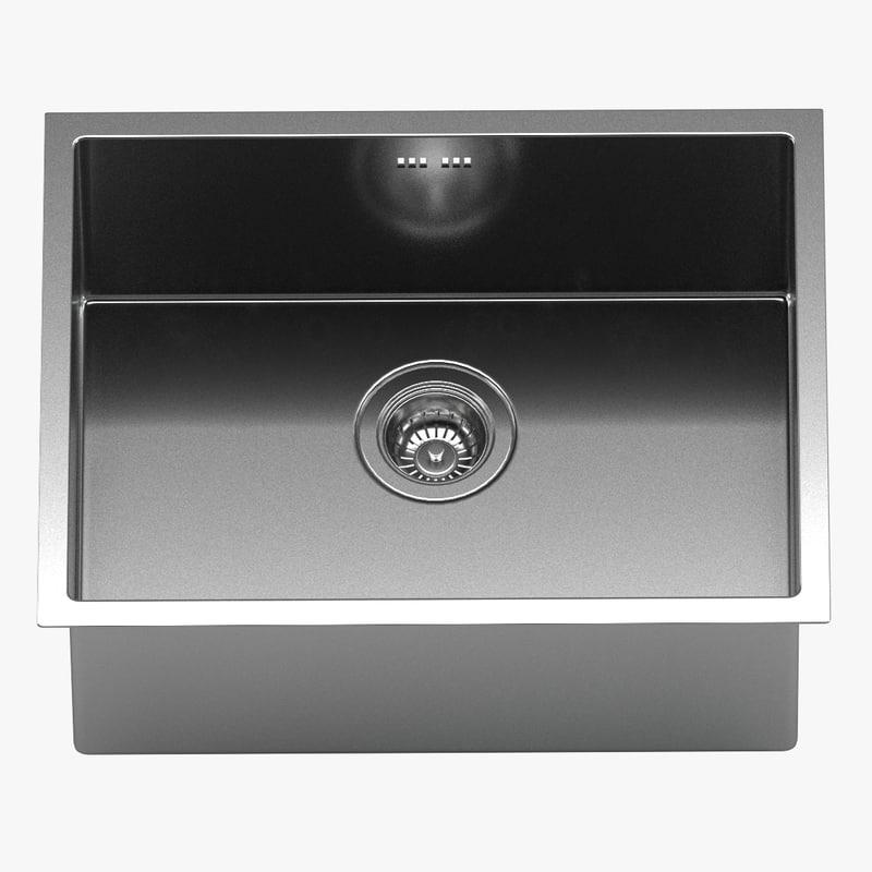 Kraus undermount kitchen sink model - TurboSquid 1250608