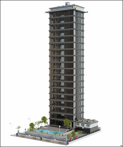 building skyscraper 3D