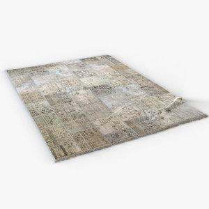 vintage carpet 3D model