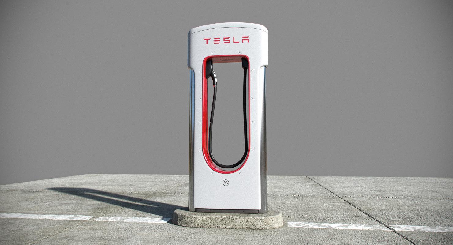tesla charger 3D model