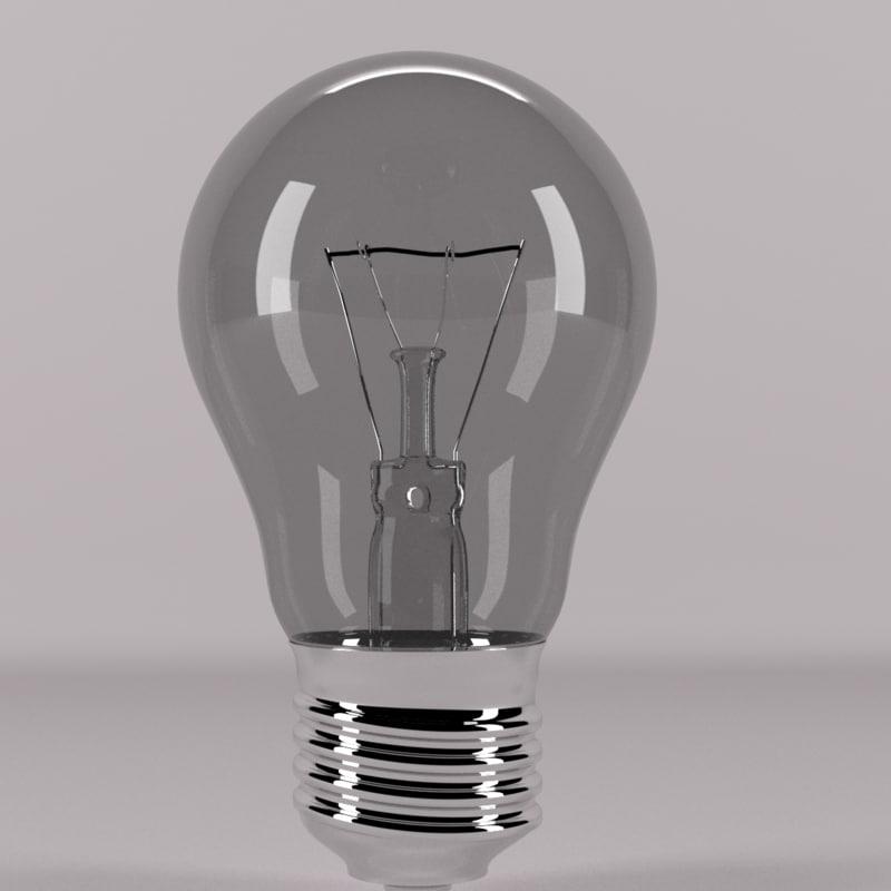 bulb light lamp 3D model