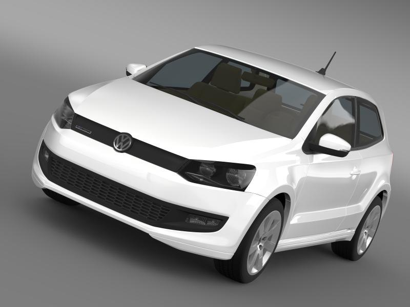 volkswagen polo bluemotion 2010-2013 3D model