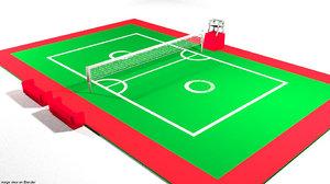 court sepaktakraw 3D model
