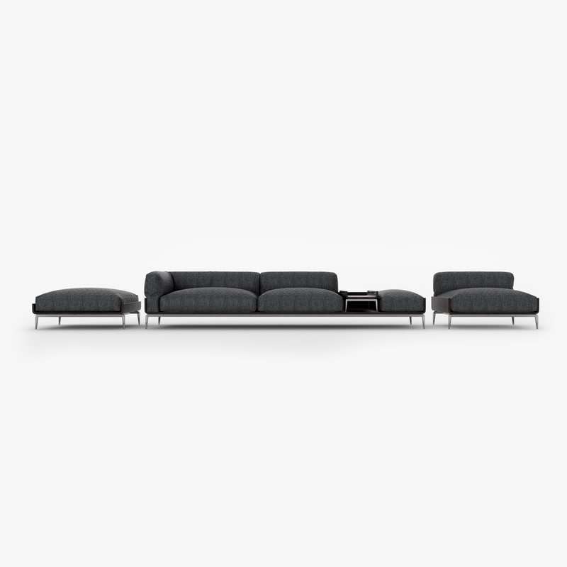3D model large sofa group