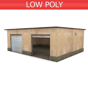 garage workshop 3D