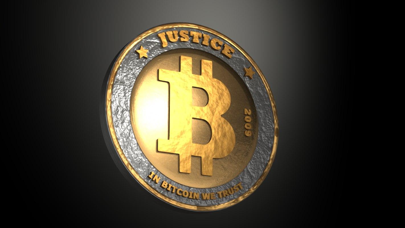 bit bitcoin coin 3D model