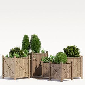 pots porth cube planter 3D model