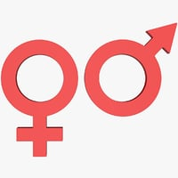 3D male female sign