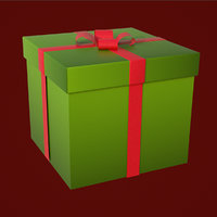 3D christmas gift animation model