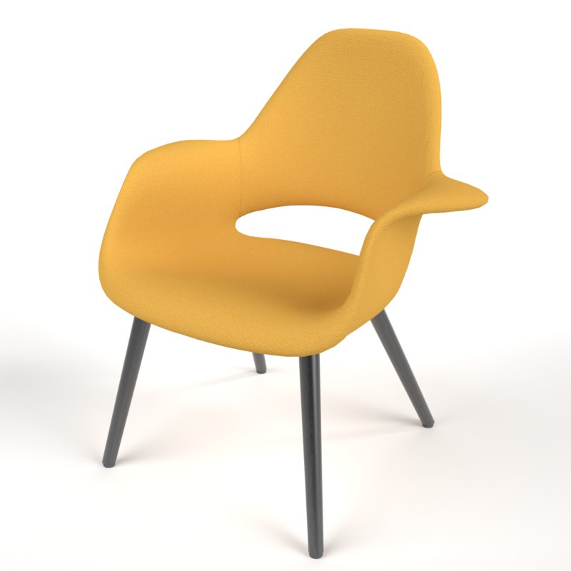 interior vitra organic chair 3D model