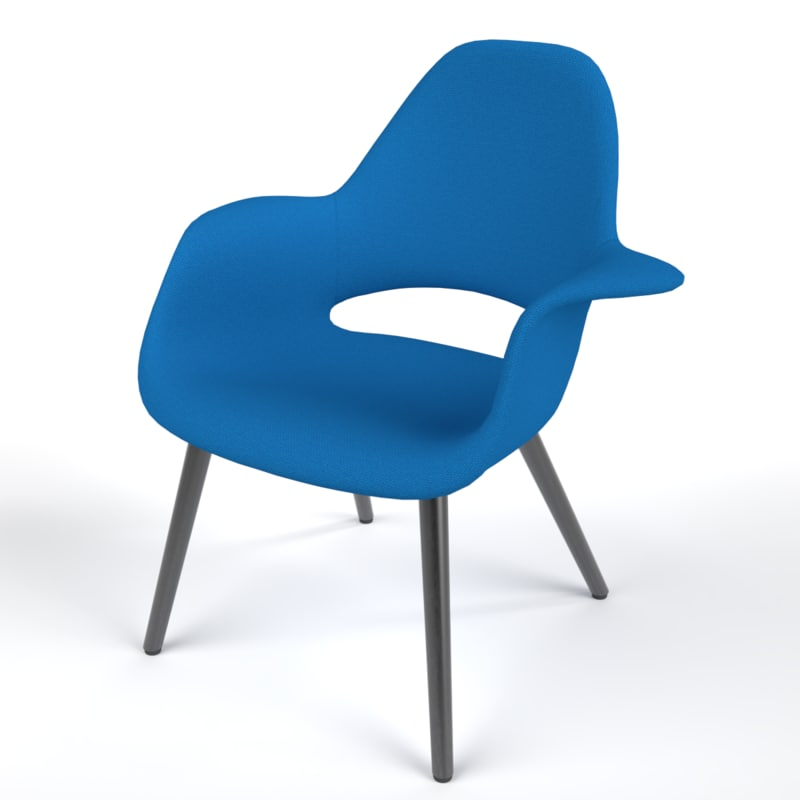 interior vitra organic chair 3D