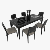 Dining Table Chair Set Orsi Decontemporary