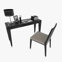 writing desk chair 3D model