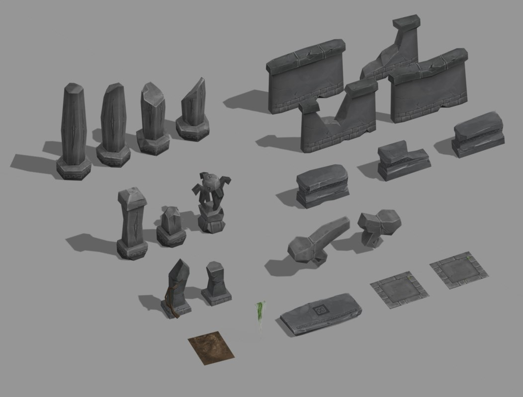 3D toon ruin