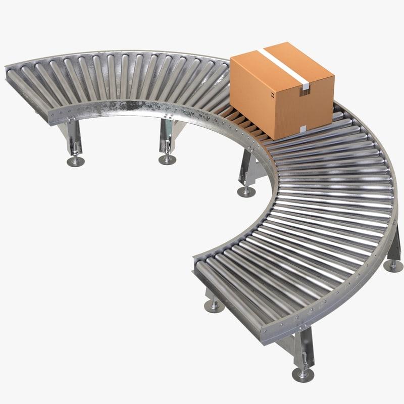 3D conveyor belt turn cardboard