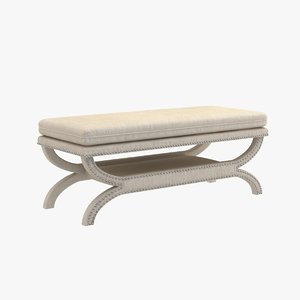 3D bench transitional style model