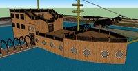 3D ship natural model
