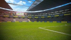 3D ready football soccer stadium model