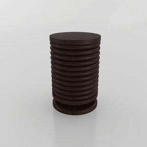 3D african stool