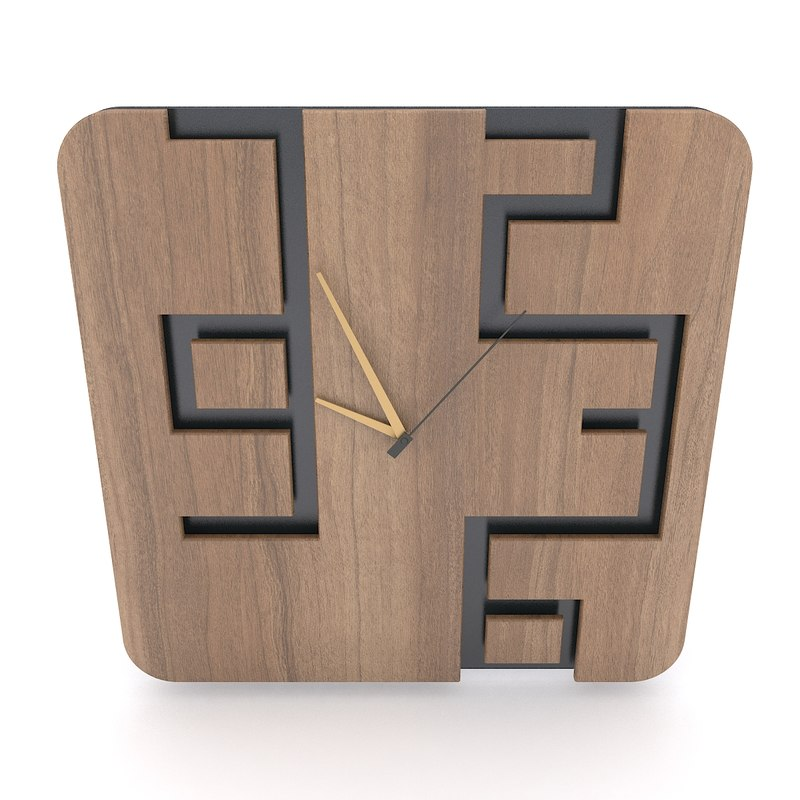 design wall clock 3D